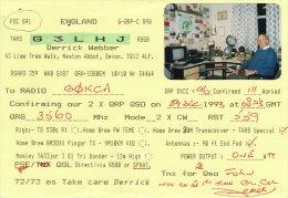 Amateur Radio QSL Card England G3LHJ Newton Abbot Devon Webber - Radio Amateur