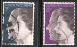 GREAT BRITAIN 1972 SCOTT 683-684 USED VALUE $1.00 - 1952-.... (Elisabetta II)