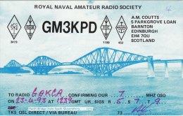 Amateur Radio QSL Card Scotland GM3KPD Edinburgh Forth Bridge Royal Navy - Radio Amateur