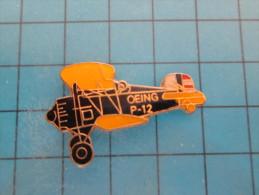 (pin613g) Pin´s Pins / Thème :  AVION AVIATION ESPACE / BIPLAN US NAVY OU US AIR FORCE ANNEES 30 BOEING P-12  / MARQUAGE - Avions