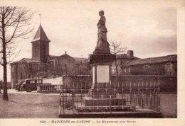 Mazières-en-Gâtine..le Monument Aux Morts..voitures Anciennes - Mazieres En Gatine