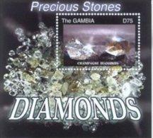 Gambia 2003 Diamonds Souvenir Sheet #2781 - Gambie (1965-...)