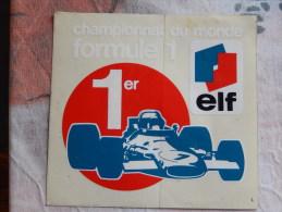 Autocollant Championnat Du Monde F1 Elf - Pegatinas