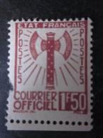 Timbre De Service N° 8 : Déchirure En Bas à Gauche Mais En état Neuf État Français Courrier Officiel 1,50 Fr.voir Scan - Neufs