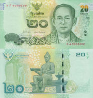 Thailand 20 Baht (2013) - King/Statue - Tailandia