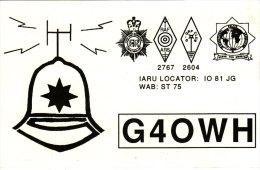 Amateur Radio QSL Card England G4OWH Kilmersdon Bath Somerset Police Helmet - Radio Amateur