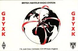Amateur Radio QSL Card England G3YXK Colchester Essex Hirst - Radio Amateur