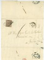 Lettera BOLOGNA A FIRENZE 1856 Baj. 5 Lettre Complète Avec Texte - Kirchenstaaten