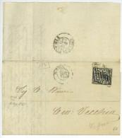 Lettera ROMA A CIVITAVECCHIA 1865 Baj. 2 Lettre Complète Avec Texte - Etats Pontificaux