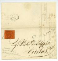 Lettera CORNETO A CIVITAVECCHIA 1868 Cen. 10 Lettre Complète Avec Texte - Etats Pontificaux