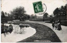 Roubaix. Un Coin Du Parc Barbieux. à M. Michel 6° Section De Secrétaires Bureau De L'état Major. Châlons Sur Marne. - Roubaix