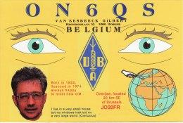 Amateur Radio QSL Card Belgium ON6QS Overijse Van Eesbeeck - Radio Amateur