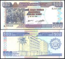 * BURUNDI - 500 FRANCS 1999 UNC - P 38b - Burundi