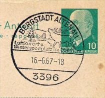 DEER Altenau 1967 On East German Reply Card P 77 A - Selvaggina