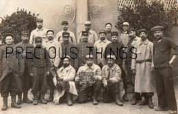 AUXERRE CARTE PHOTO MILITAIRE SOLDATS DU 37EME TERR 15EME COMP  4EME ESC EN 1914 - Auxerre