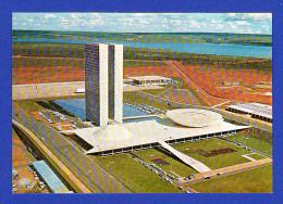 CARTÃO POSTAL --- VARIG --- BRASILIA - VISTA AÉREA DO CONGRESSO  - 2 SCANS - Brasilia