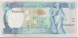 MALTA P. 42 5 L 1989 UNC - Malta