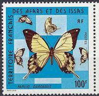 AFARS & ISSAS  1975 BUTTERFLIES  100 FR SC# 397 MNH ** Neuf (DEB04) - Butterflies