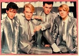 Kleines Musik-Poster  - Gruppe ABC  -  Rückseite : Peter Maffay  -  Von Popcorn Ca. 1982 - Plakate & Poster