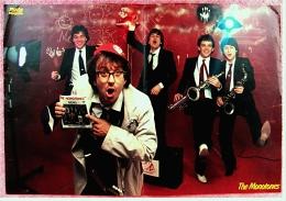 Kleines Poster  -  Gruppe The Monotones  -  Rückseite : Peter Kent  -  Von Pop-Rocky Ca. 1982 - Plakate & Poster