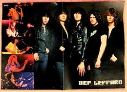 Kleines Poster  -  Gruppe Def Leppard  -  Rückseite : Adam Ant  -  Von Pop-Rocky Ca. 1982 - Plakate & Poster