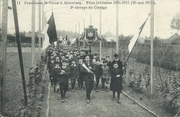 Alsemberg - Pensionnat St-Victor - Fêtes Jubilaires 1911 - 3e Groupe Du Cortège ( Verso Zien ) - Beersel