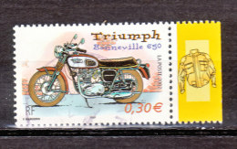 FRANCE / 2002 / Y&T N° 3515 : Moto (Triumph Bonneville 650) - Choisi - Cachet Rond - France