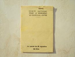 VEND CARNET DE 20 VIGNETTES DU MARECHAL JOFFRE !!!! (b) - Commemorative Labels