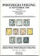 1990 - Catalogus/Vente Publique/Briefmarkenauktion/Stamp Auction - 15.09.1990 - Catalogues De Maisons De Vente