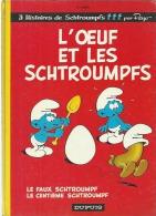 """LES SCHTROUMPFS """" L´OEUF ET LES SCHTROUMPFS """" - PEYO - E.O.  Dos Rond 1974  DUPUIS - Schtroumpfs, Les"""