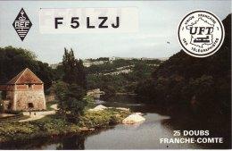 Amateur Radio QSL Card France F5LZJ Franois Gruet Franche-Comte Burgundy - Radio Amateur