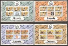 CELEBRIDADES/ROWLAND HILL - GRENADA 1979 - Yvert #862/65 (Minipliegos) - MNH ** - Rowland Hill