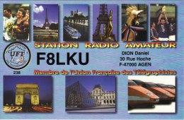 Amateur Radio QSL Card France F8LKU Agen Dion - Radio Amateur