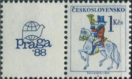 JK0776 Czechoslovakia 1987 Postman 1v+labal MNH - Nuovi