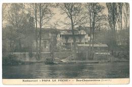 "Cpa: 94 BAS CHENNEVIERES (ar. Nogent Sur Marne) Restaurant ""PAPA LA PECHE"" - Chennevieres Sur Marne"