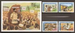 GRENADA 1980 - Yvert #921/24+H87 - MNH ** - Grenada (1974-...)