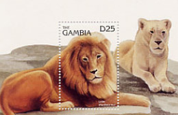 GAMBIE  LIONS  BLOC   07/96 - Francobolli