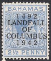 Bahamas, 2 1/2 P. 1942, Sc # 120, MH - Bahamas (...-1973)