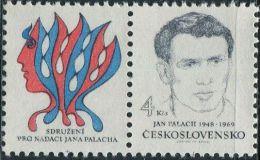 JK0839 Czechoslovakia 1991 Anti-repression Of Student Palach 1v+labal MNH - Nuovi