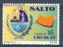 Uruguay 1997 Mi 2278 Mnh - City, Crest, Map - Stamps