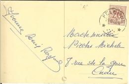 CP Avec Relais De FELENNE 1955  ( Bonne Année Et Un Couple ) - Marcophilie