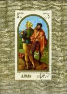 1968 Famous Paintings,Ajman,Mi. Bl 24,VFU - Ajman