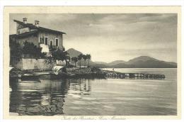 CARTOLINA -  ISOLA DEI PESCATORI - LAGO MAGGIORE -   VIAGGIATA NEL  1912 - BAVENO - ESFOLIATA - Verbania