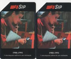 USATE-134/35- SIP--COPPIA -150 MILIONI DI CARTE - DA L. 5.000/10.000 - Italia