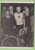 A Identifier : LE BER ?, Autographe Manuscrit, Dédicace. 2 Scans. - Cyclisme