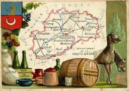 Chomo - Carte De Département - Haute Saône - Géographie