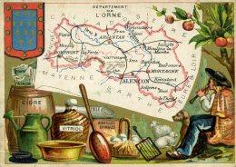 Chomo - Carte De Département - Orne - Géographie