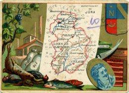 Chomo - Carte De Département - Jura - Géographie
