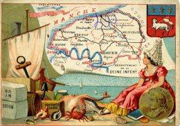 Chomo - Carte De Département - Seine Inférieure - Géographie