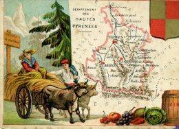 Chomo - Carte De Département - Hautes Pyrénées - Géographie